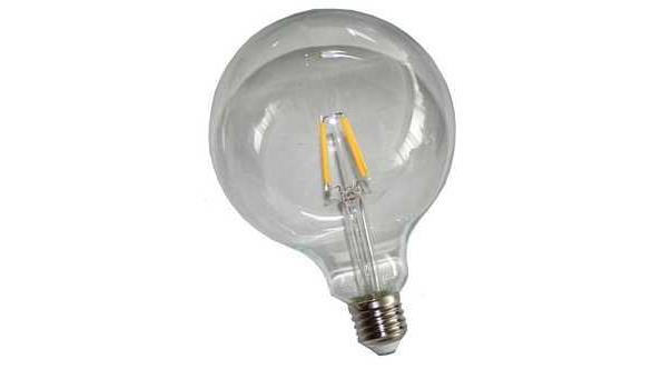 LED lamp E27, 6 watt, filament, globe, warmwit, 10x