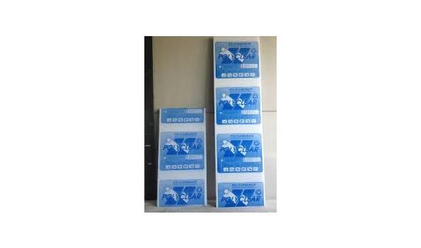 Polycarbonaat  Platen X-structuur 16 mm dik Helder