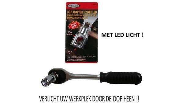 Dop adapter met LED