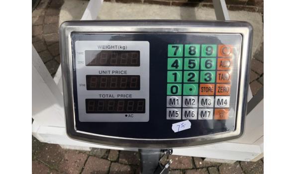 Digitale platform weegschaal tot 150 kilo
