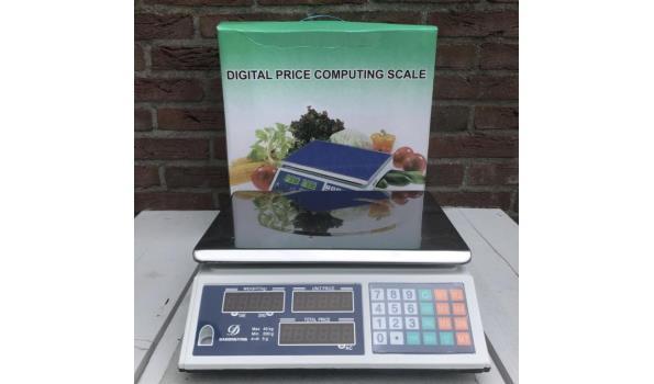 Digitale platform weegschaal tot 40 kilo