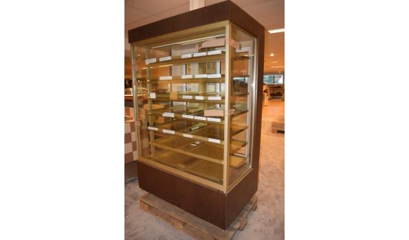 Koel vitrinekast - 116x75x190cm