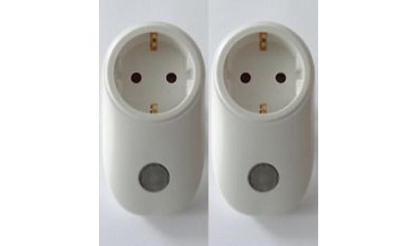 Stopcontact met lichtsensor 2x