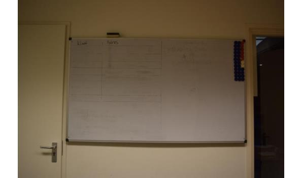 Whiteboard incl. toebehoren - 154x90cm