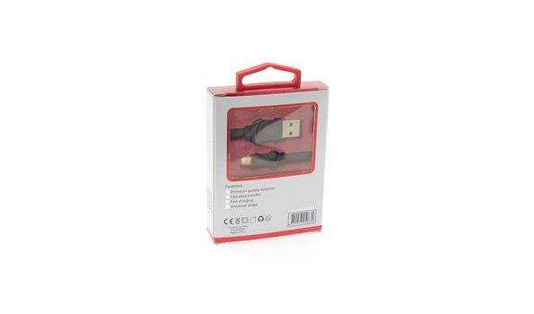 Uniq - IPhone Lightning Kabel USB - Zwart