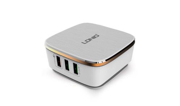Stekkerdoos 6 USB Poort - Wit (design)
