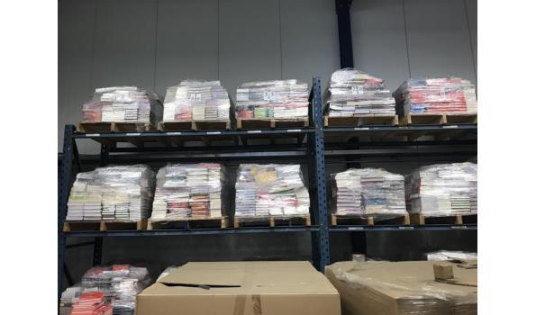Pallet met 800 nieuwe boeken
