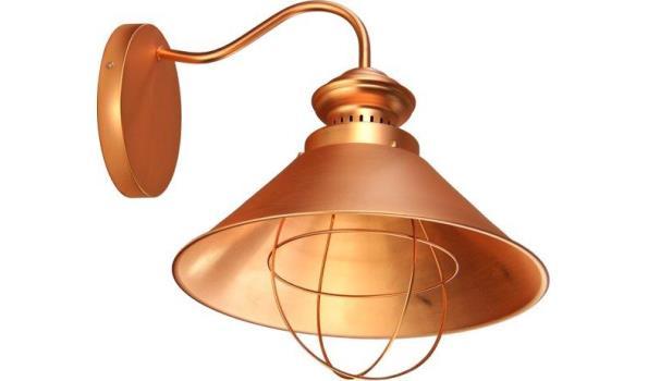 Pico, koperen wandlamp 1 stuks