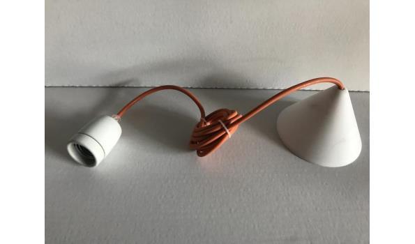Hanglamp Corda met oranje snoer, 10 stuks