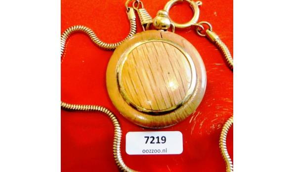 CMI Zakhorloge in houten kast met ketting(36cm)