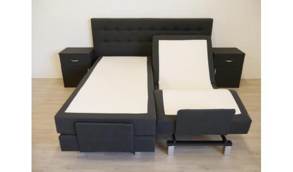 Boxspring elektrisch Home Flexo, 160x200 cm, met Pocket geveerde onderboxen, antraciet