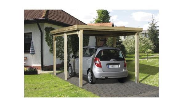 Carport/Overkapping vrijstaand, 3,22x5,12 meter, voor 1 voertuig, geimpregneerd