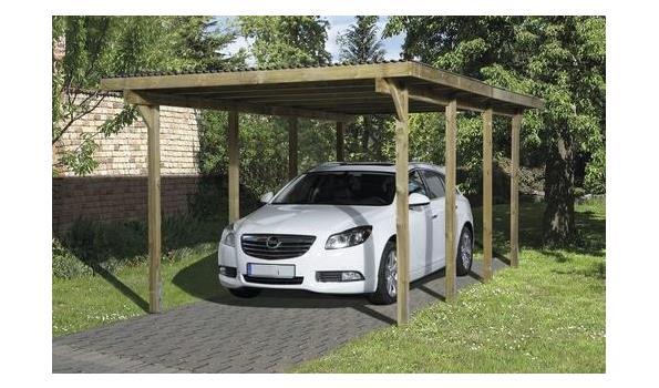 Carport/Overkapping vrijstaand, 3x6 meter, voor 1 voertuig, geimpregneerd, incl ankerset
