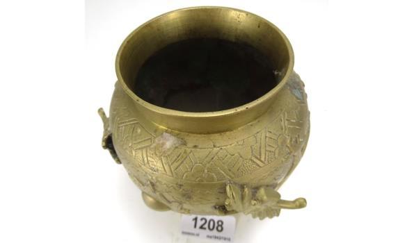 Antiek bronzen Chinese drakenvaas