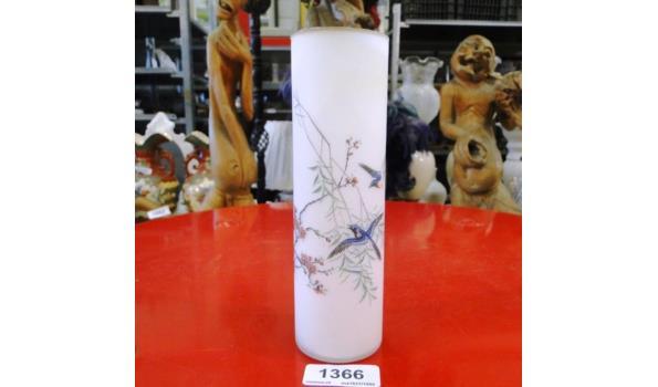 Handbeschilderd glazen Oosterse vaas
