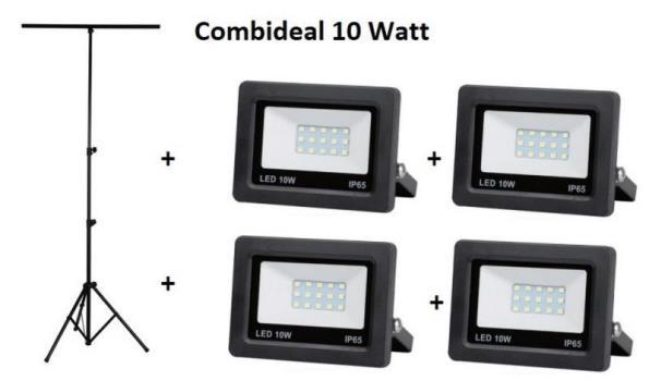 Statief + 2 LED stralers 30 watt