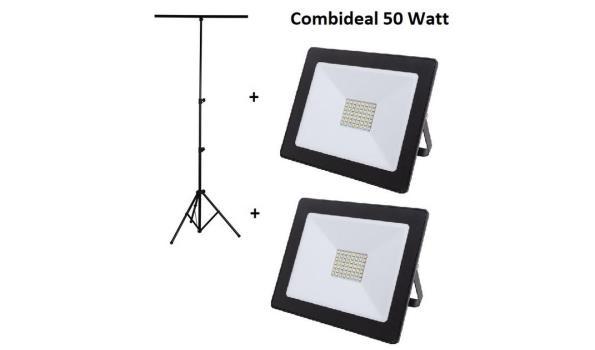 Statief + 4 LED stralers 30 watt