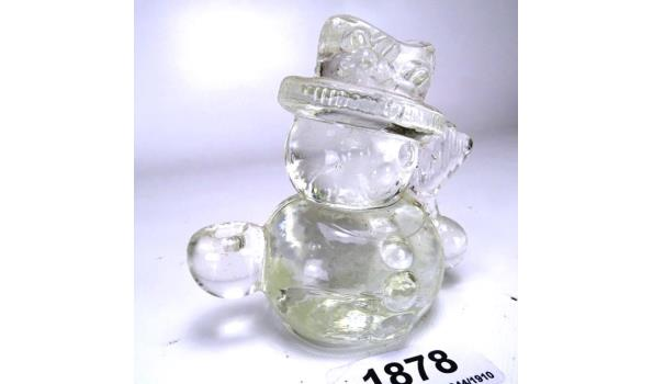 Massief glazen sneeuwpop