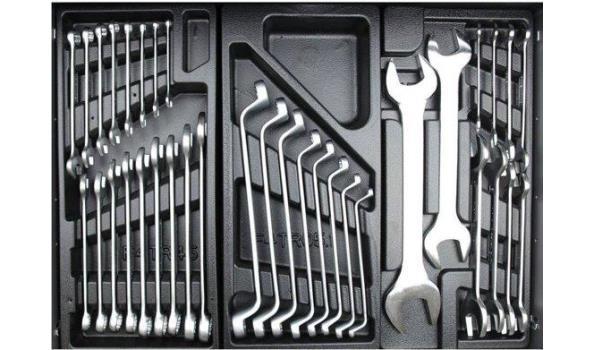 Gereedschapswagen Black Edition, 7  laden, 1226 delig, 2x