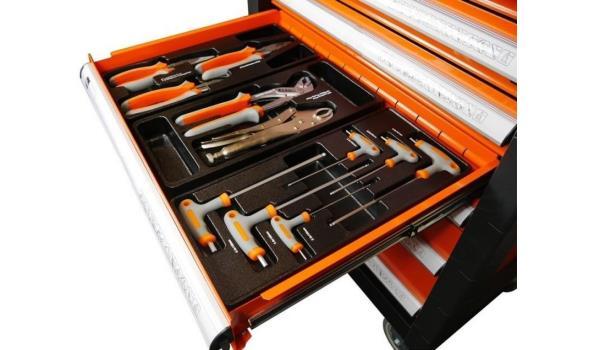 Gereedschapswagen Orange Edition Pro, 7 laden, 751 delig