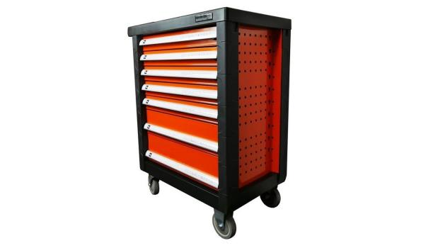 Gereedschapswagen Orange Edition Pro, 7 laden, 751 delig
