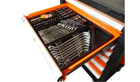 Gereedschapswagen Orange Edition Pro, 7 laden, 751 delig, 2x