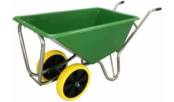 Kruiwagen 160 liter lichtgewicht op 2 anti-lek banden, 4x