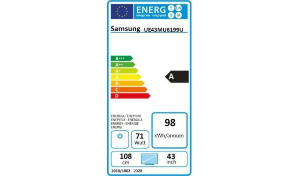 UHD Smart TV Samsung  43 inch/109 cm