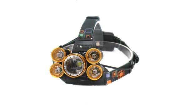 LED hoofdlamp met oplader en accupack