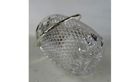 Kristallen ijsemmer met verchroomd montuur
