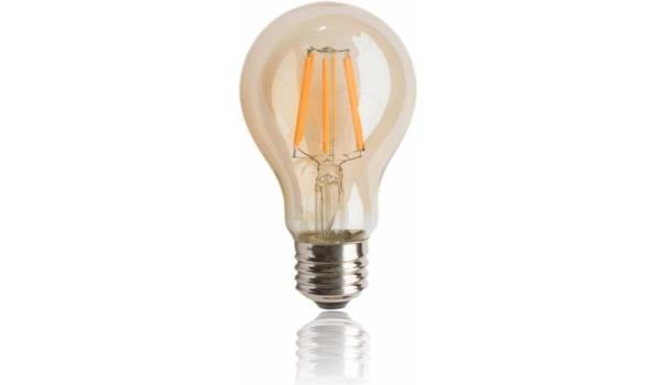 LED lamp E27, 4 watt, filament, amber, 30x