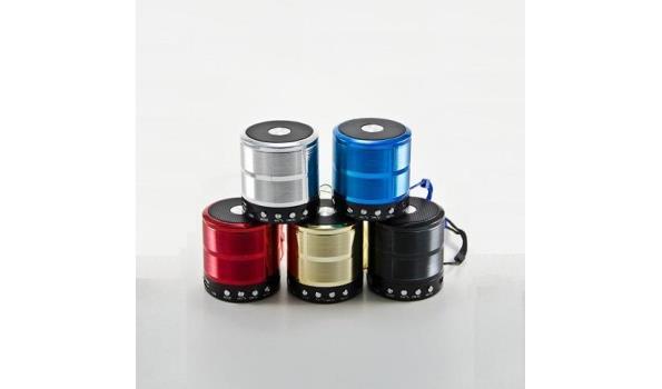 3 stuks bluetooth speakers rood