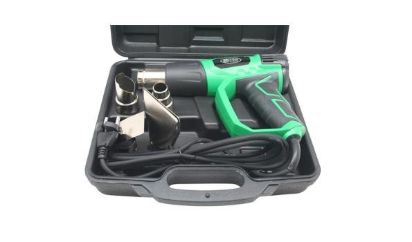 Heteluchtpistool 2000 Watt, in koffer met accessoires